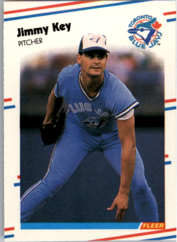 1988 Fleer Mini Baseball Cards 063      Jimmy Key