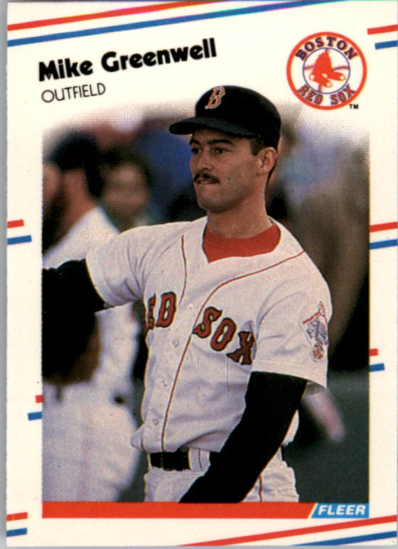 1988 Fleer Mini Baseball Cards 007      Mike Greenwell