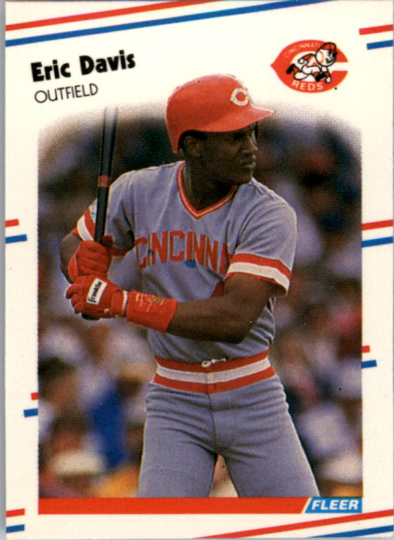 1988 Fleer Mini Baseball Cards 073      Eric Davis