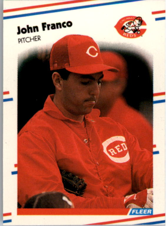 1988 Fleer Mini Baseball Cards 074      John Franco