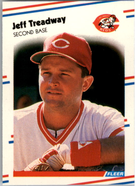 1988 Fleer Mini Baseball Cards 076      Jeff Treadway