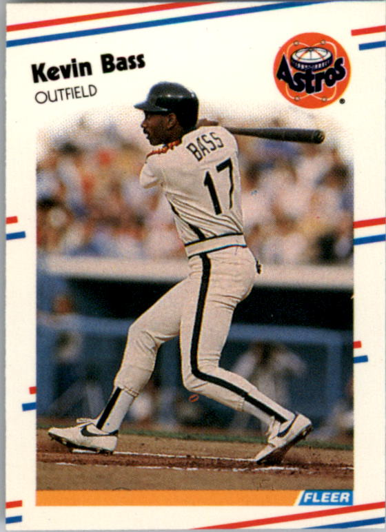 1988 Fleer Mini Baseball Cards 077      Kevin Bass