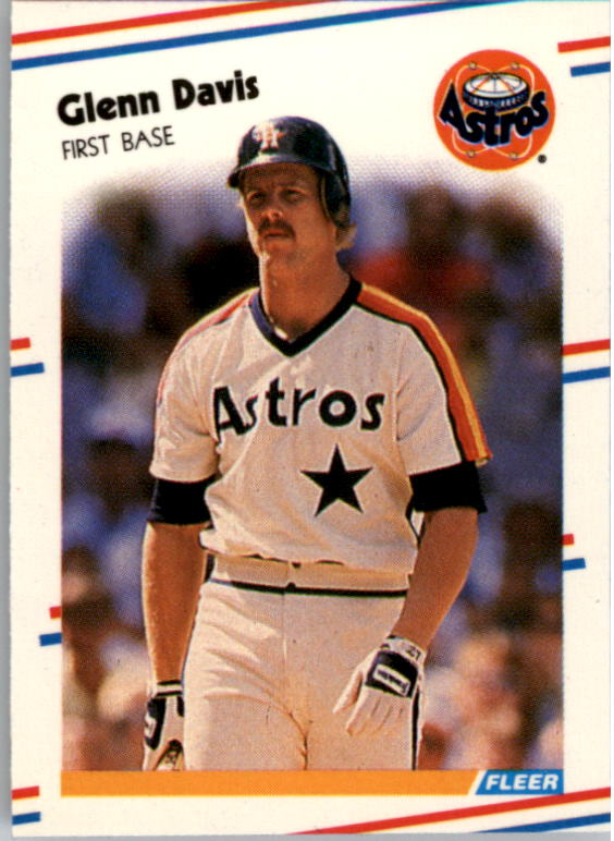 1988 Fleer Mini Baseball Cards 078      Glenn Davis