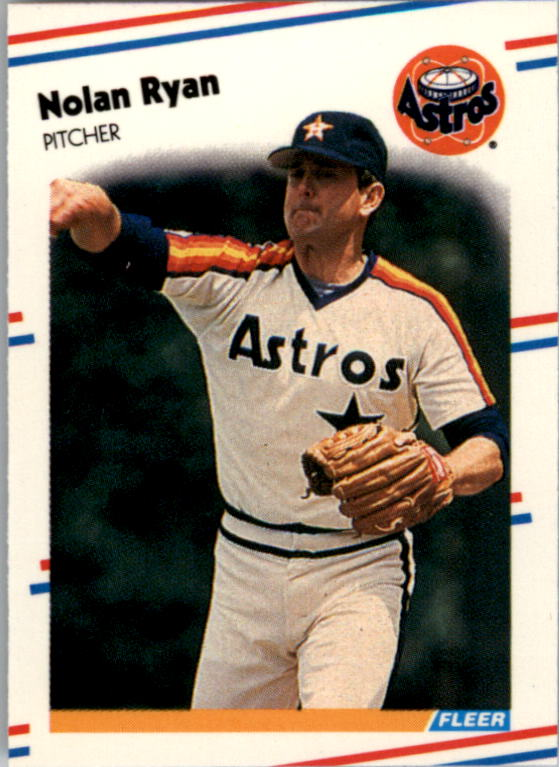 1988 Fleer Mini Baseball Cards 079      Nolan Ryan
