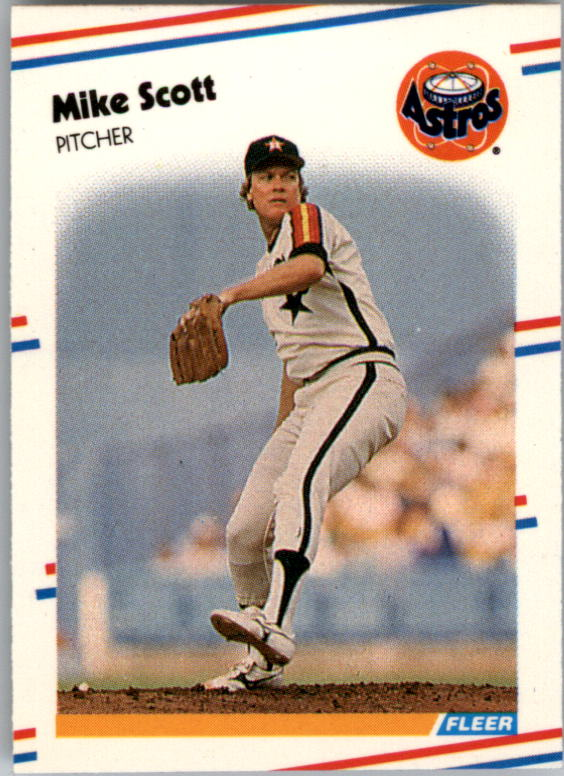 1988 Fleer Mini Baseball Cards 080      Mike Scott