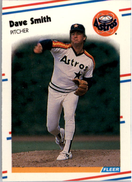 1988 Fleer Mini Baseball Cards 081      Dave Smith