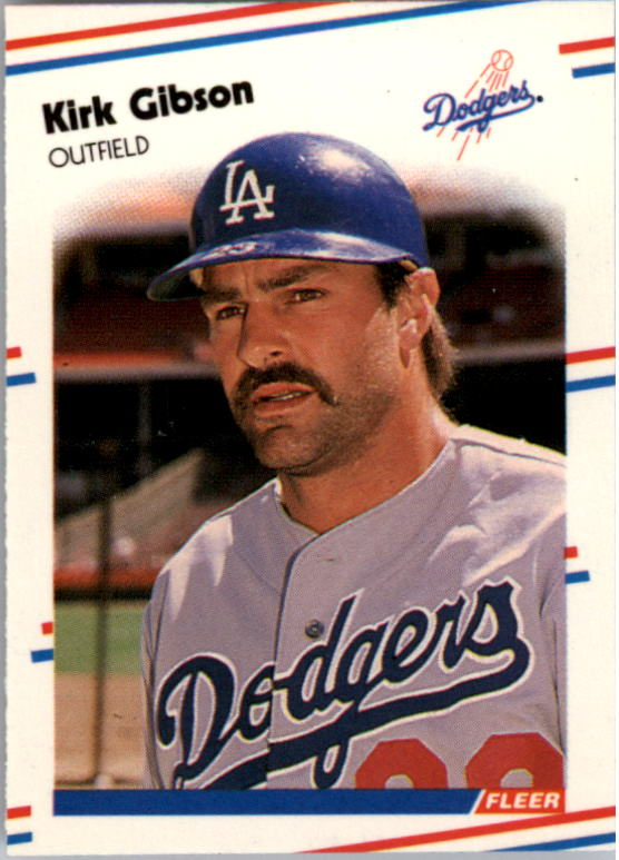 1988 Fleer Mini Baseball Cards 082      Kirk Gibson