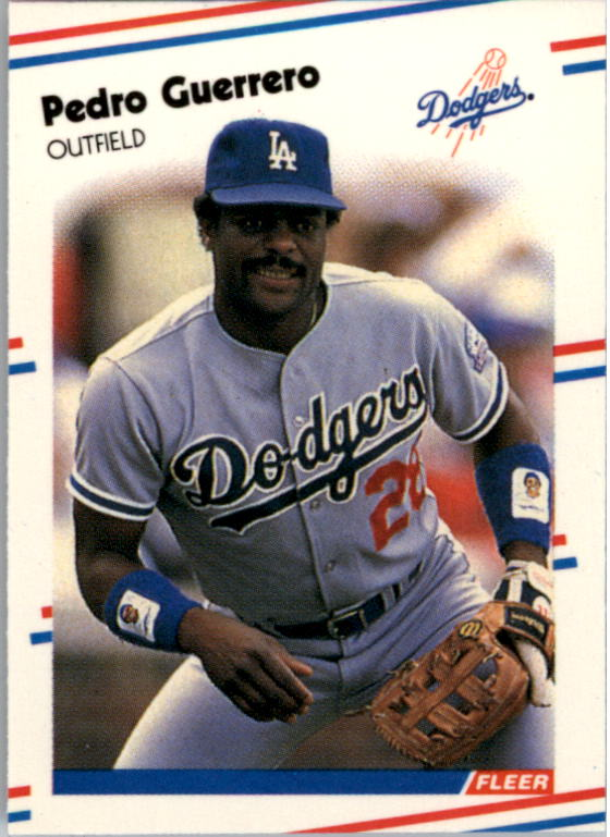 1988 Fleer Mini Baseball Cards 083      Pedro Guerrero