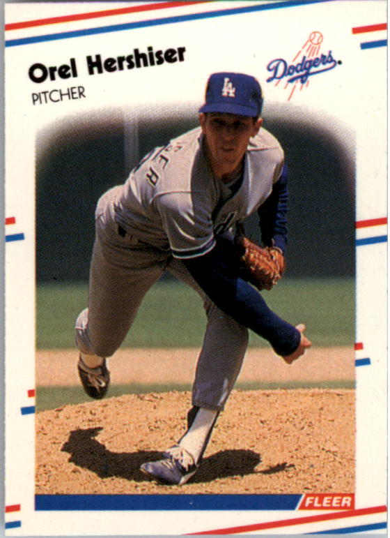 1988 Fleer Mini Baseball Cards 084      Orel Hershiser