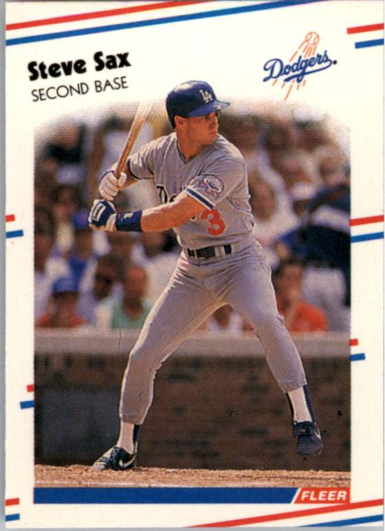 1988 Fleer Mini Baseball Cards 085      Steve Sax