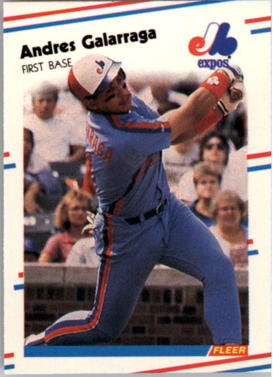 1988 Fleer Mini Baseball Cards 088      Andres Galarraga