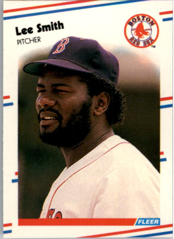 1988 Fleer Mini Baseball Cards 009      Lee Smith