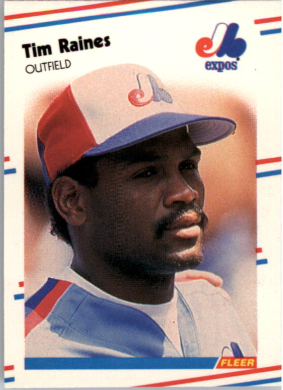 1988 Fleer Mini Baseball Cards 090      Tim Raines