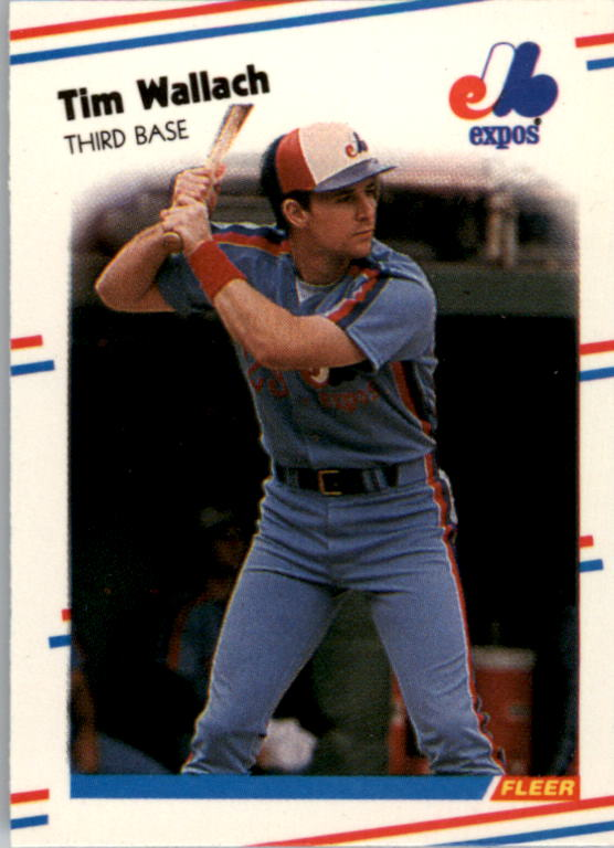 1988 Fleer Mini Baseball Cards 091      Tim Wallach