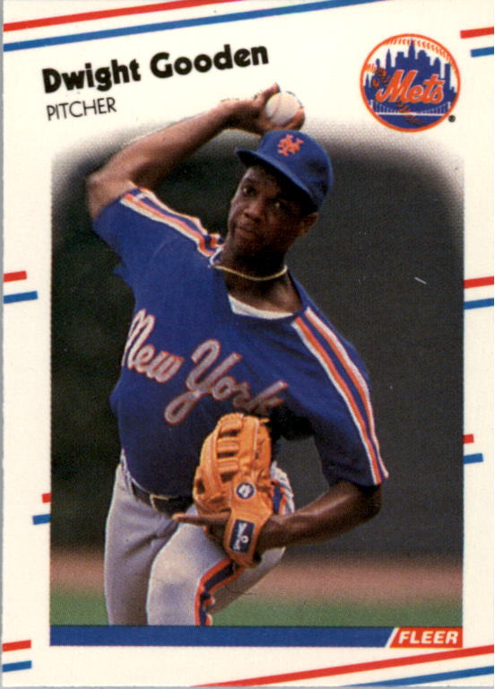 1988 Fleer Mini Baseball Cards 092      Dwight Gooden