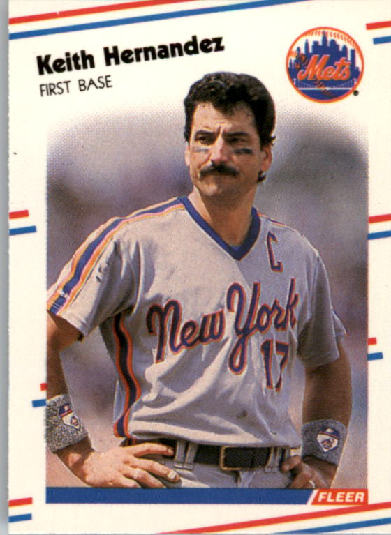 1988 Fleer Mini Baseball Cards 093      Keith Hernandez