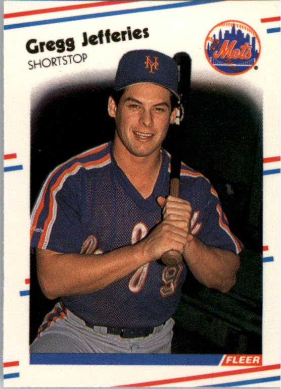 1988 Fleer Mini Baseball Cards 094      Gregg Jefferies