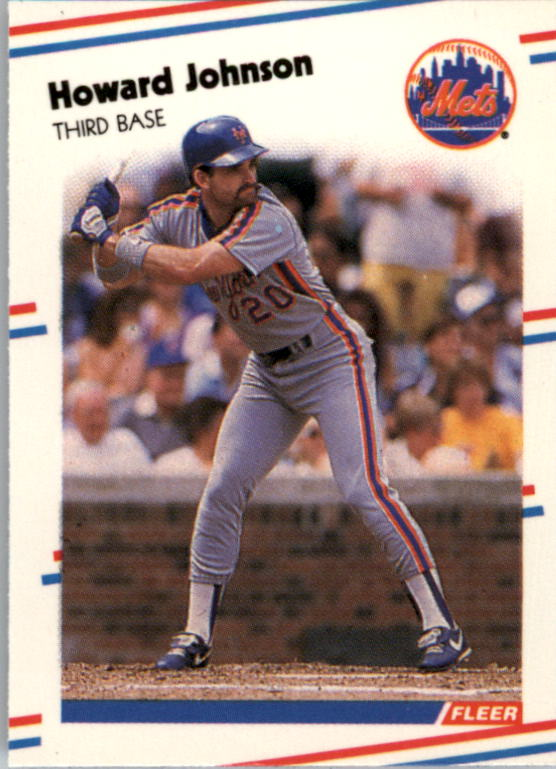 1988 Fleer Mini Baseball Cards 095      Howard Johnson