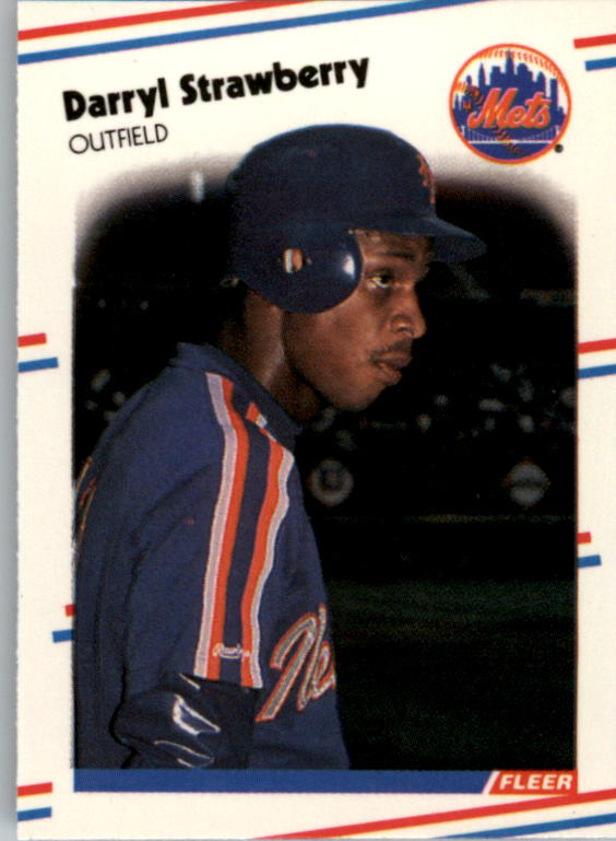 1988 Fleer Mini Baseball Cards 097      Darryl Strawberry