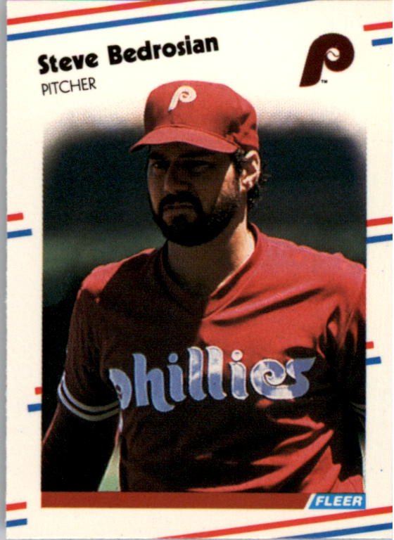 1988 Fleer Mini Baseball Cards 098      Steve Bedrosian