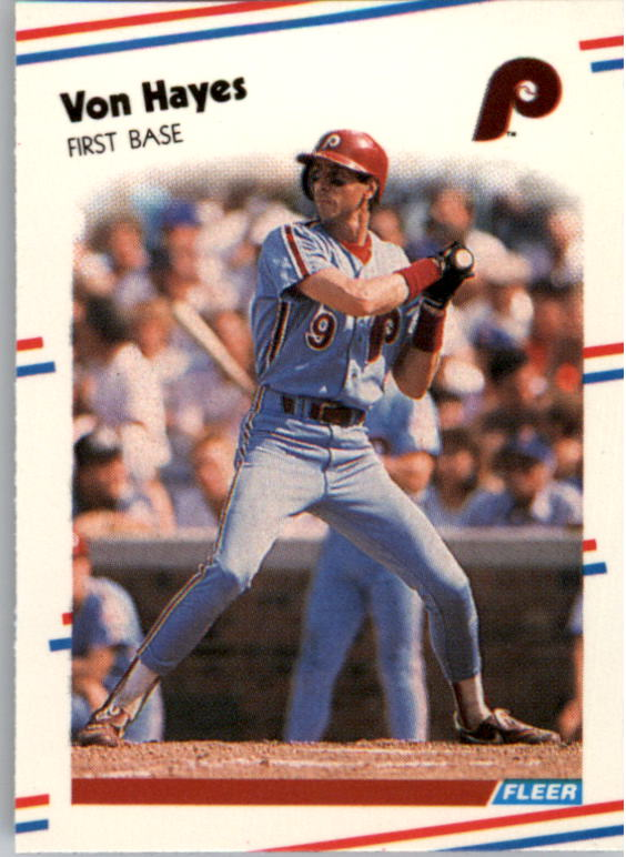 1988 Fleer Mini Baseball Cards 099      Von Hayes