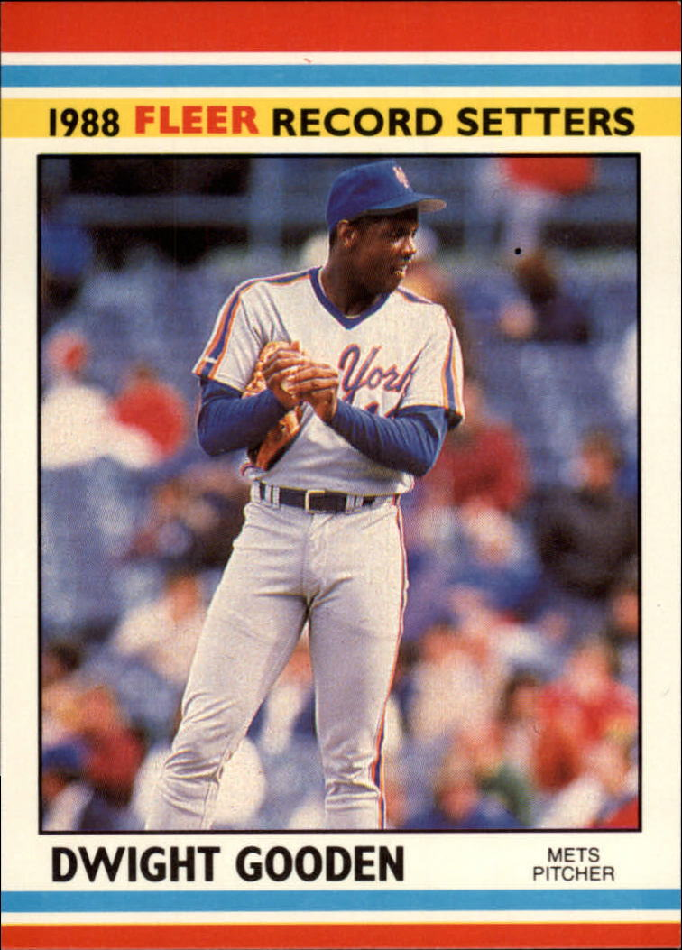 1988 Fleer Record Setters Baseball Cards       014      Dwight Gooden