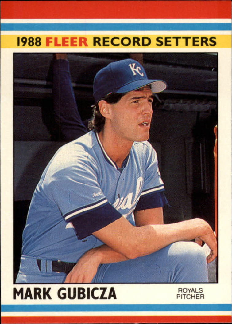 1988 Fleer Record Setters Baseball Cards       015      Mark Gubicza#{(Listed as Gubiczo#{on box checklist