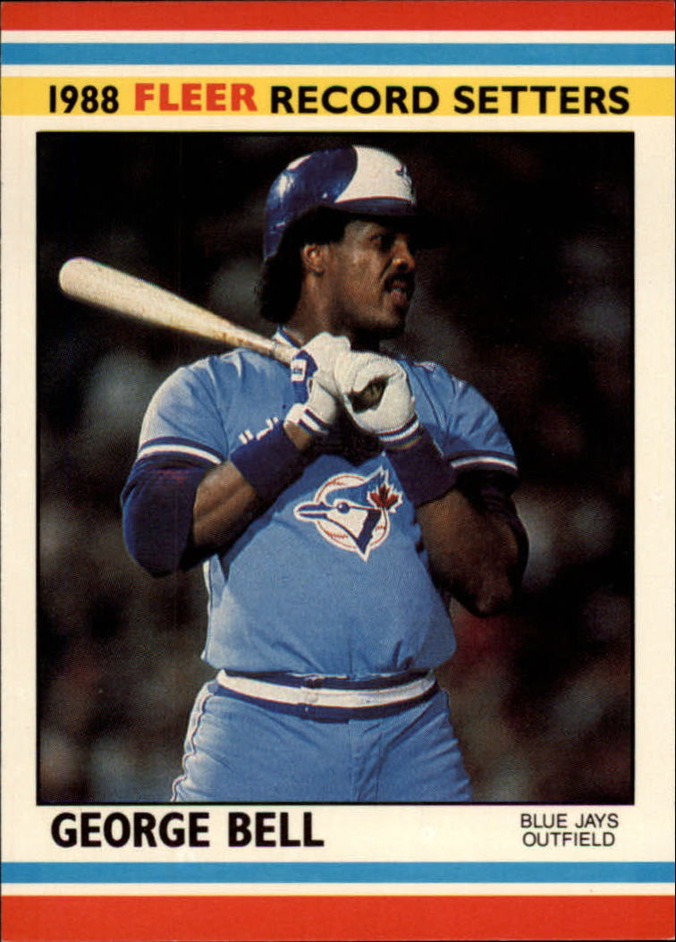 1988 Fleer Record Setters Baseball Cards       002      George Bell