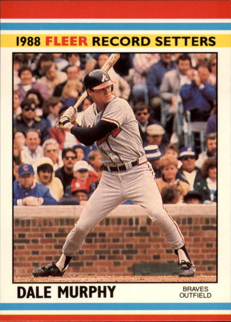 1988 Fleer Record Setters Baseball Cards       027      Dale Murphy