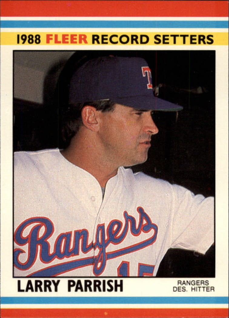 1988 Fleer Record Setters Baseball Cards       028      Larry Parrish