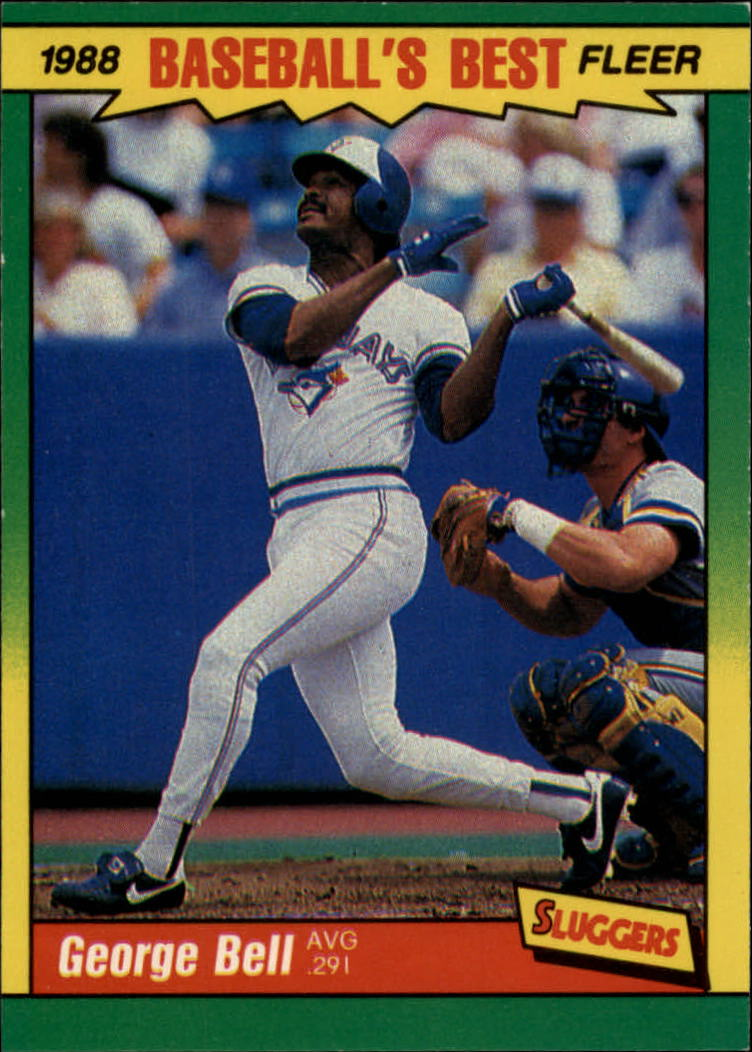 1988 Fleer Sluggers/Pitchers Baseball Cards    001      George Bell