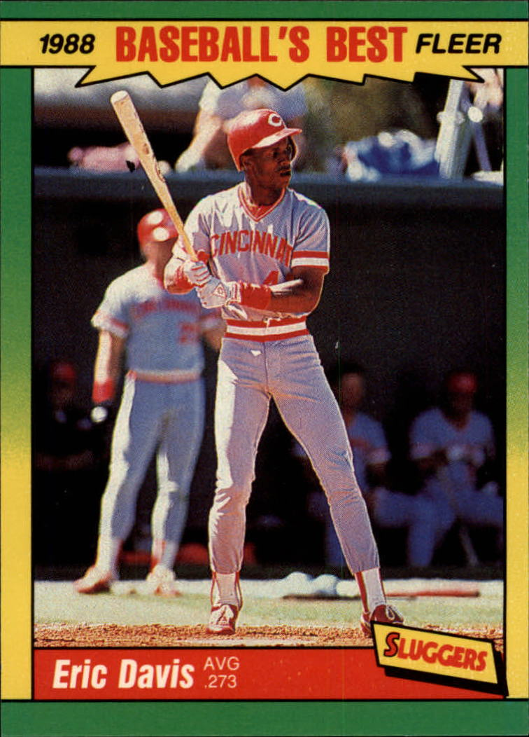 1988 Fleer Sluggers/Pitchers Baseball Cards    010      Eric Davis
