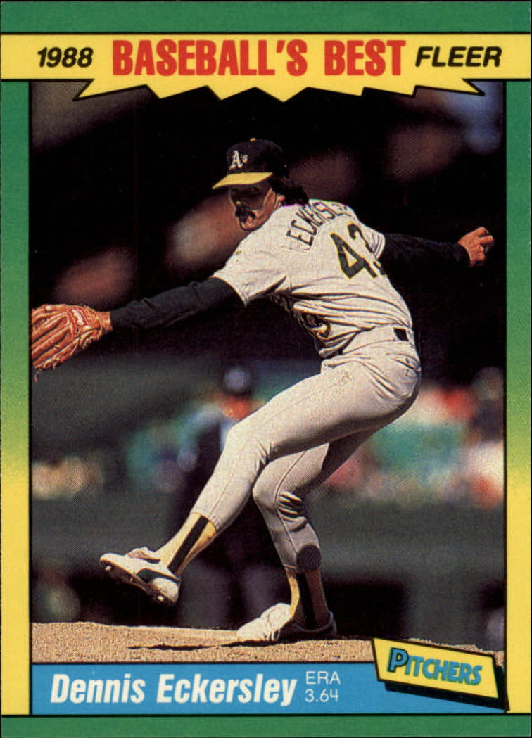 1988 Fleer Sluggers/Pitchers Baseball Cards    013      Dennis Eckersley