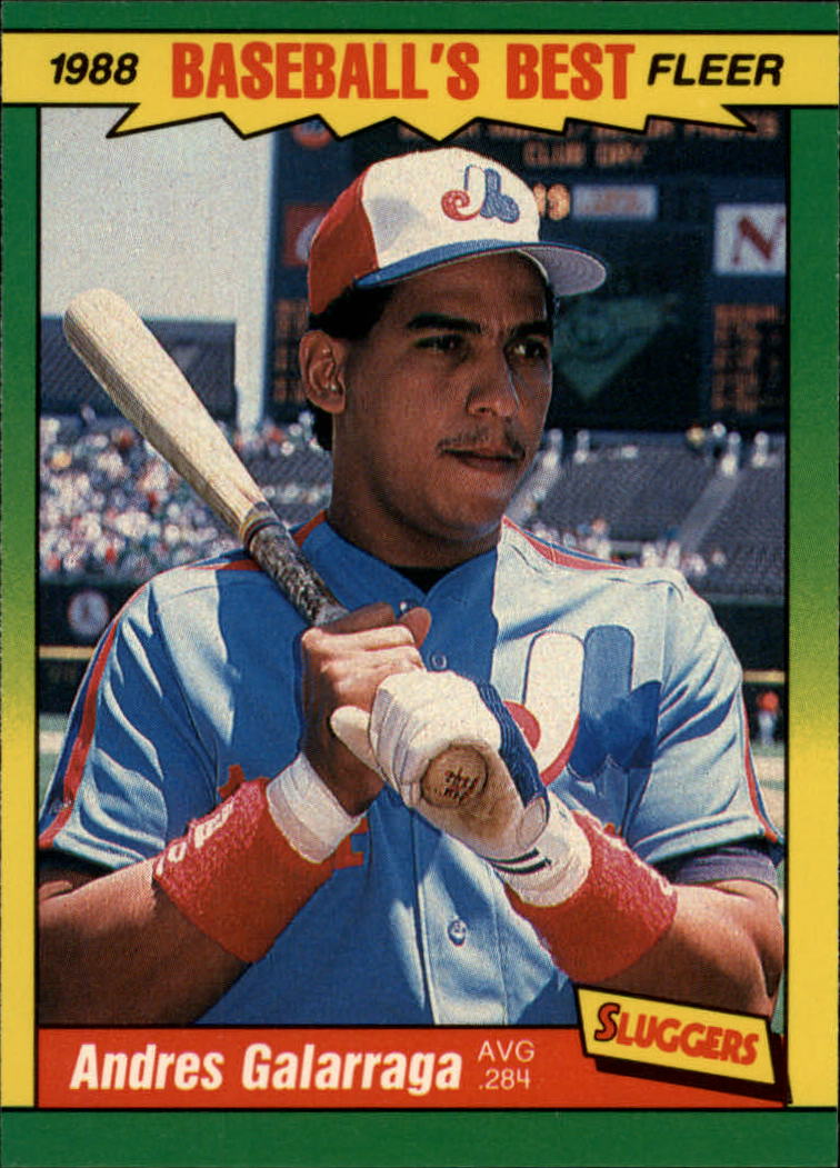 1988 Fleer Sluggers/Pitchers Baseball Cards    014      Andres Galarraga