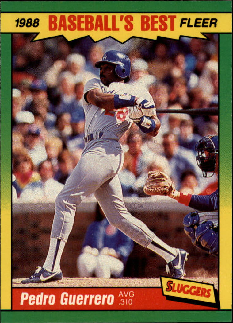 1988 Fleer Sluggers/Pitchers Baseball Cards    016      Pedro Guerrero