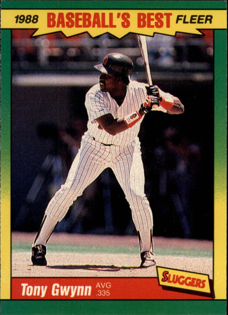1988 Fleer Sluggers/Pitchers Baseball Cards    017      Tony Gwynn