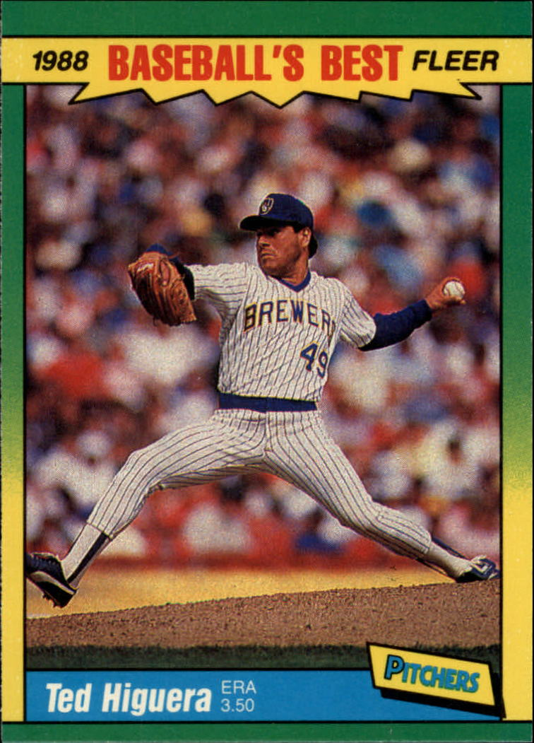 1988 Fleer Sluggers/Pitchers Baseball Cards    019      Ted Higuera