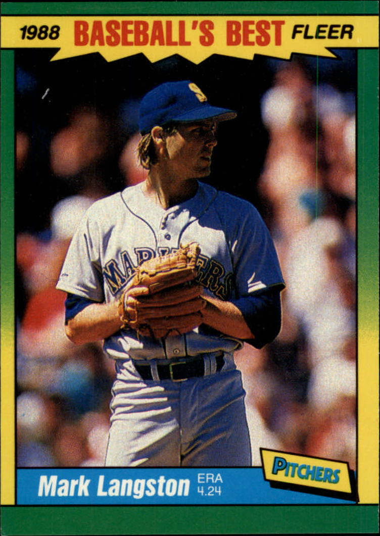 1988 Fleer Sluggers/Pitchers Baseball Cards    023      Mark Langston