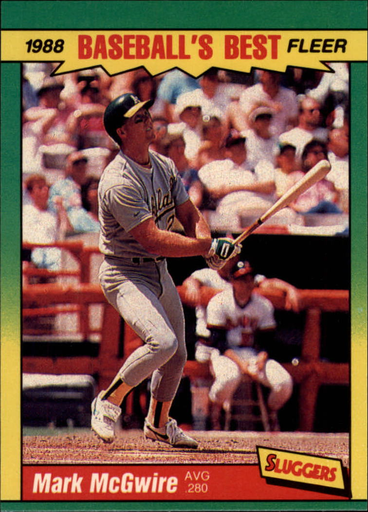1988 Fleer Sluggers/Pitchers Baseball Cards    027      Mark McGwire