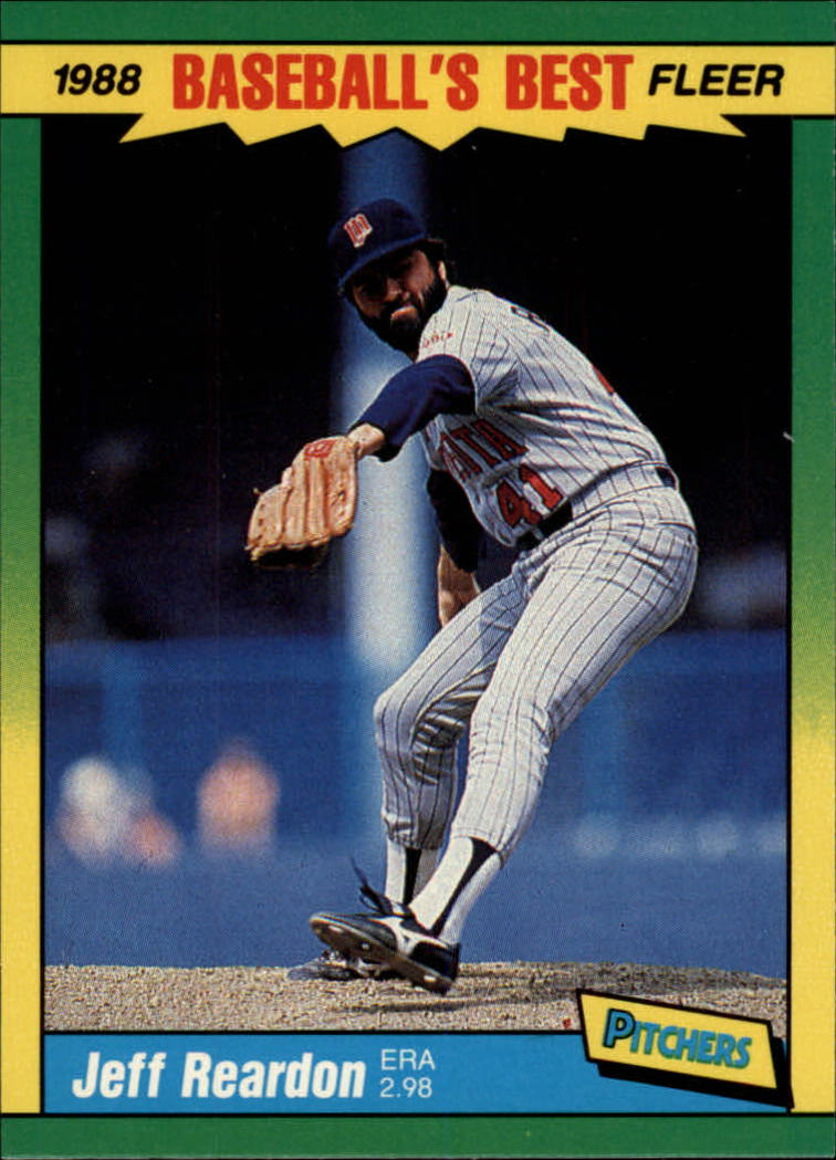 1988 Fleer Sluggers/Pitchers Baseball Cards    032      Jeff Reardon