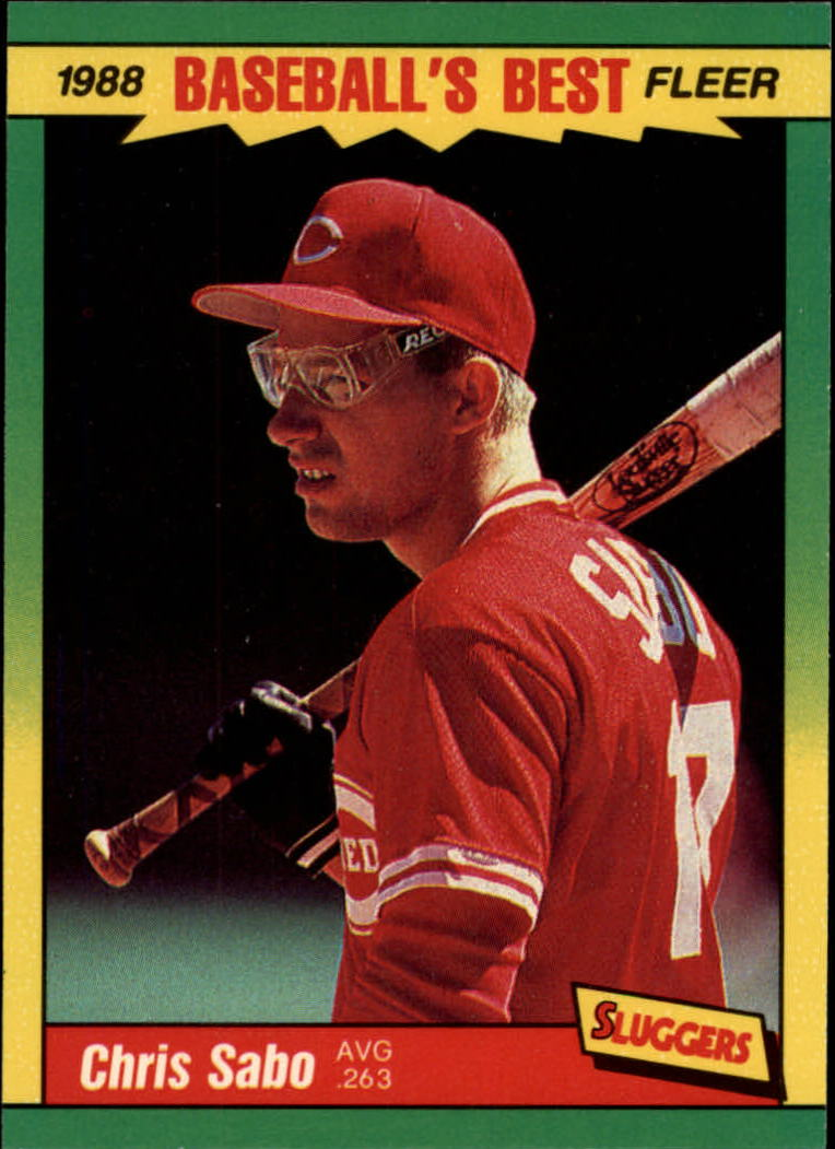 1988 Fleer Sluggers/Pitchers Baseball Cards    035      Chris Sabo