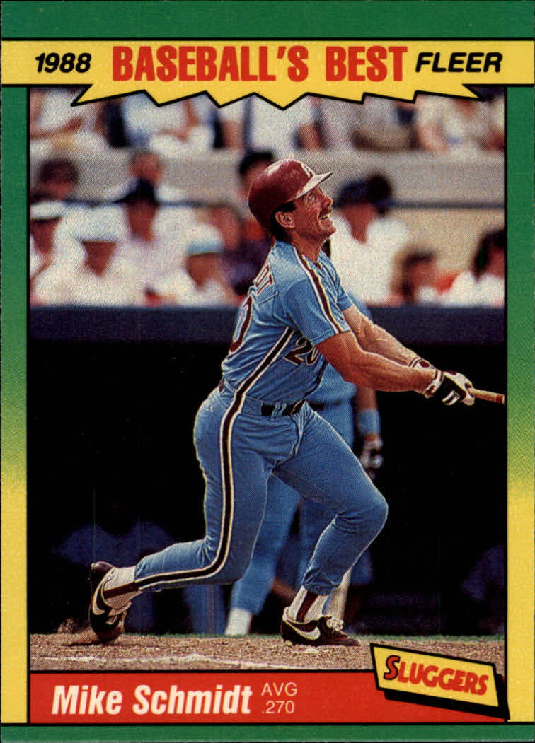 1988 Fleer Sluggers/Pitchers Baseball Cards    036      Mike Schmidt