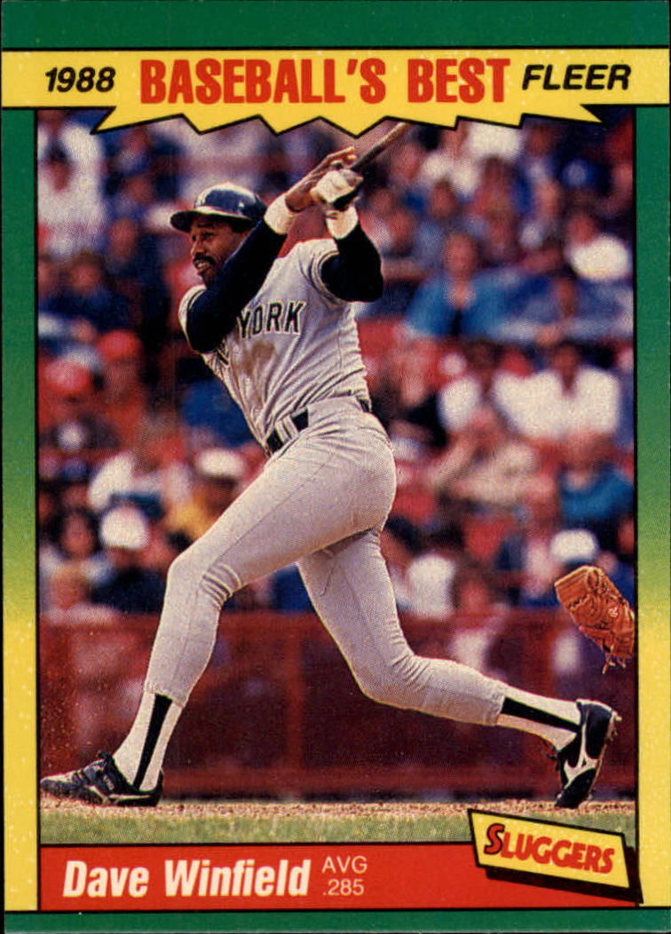 1988 Fleer Sluggers/Pitchers Baseball Cards    043      Dave Winfield