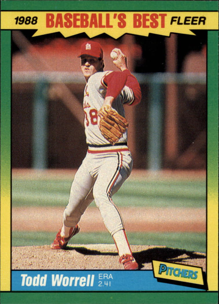 1988 Fleer Sluggers/Pitchers Baseball Cards    044      Todd Worrell