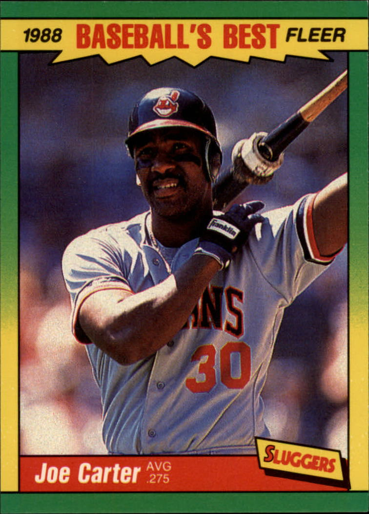 1988 Fleer Sluggers/Pitchers Baseball Cards    007      Joe Carter
