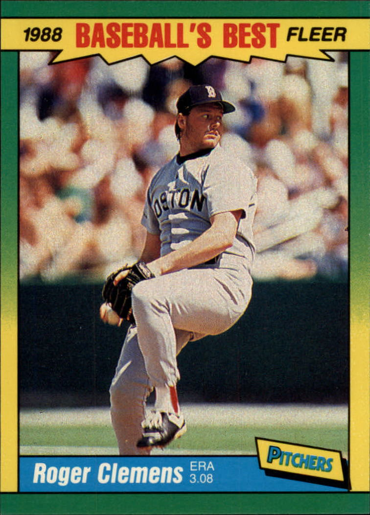1988 Fleer Sluggers/Pitchers Baseball Cards    009      Roger Clemens