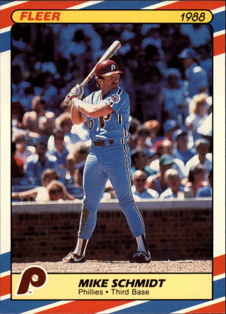 1988 Fleer Superstars Baseball Cards   033      Mike Schmidt