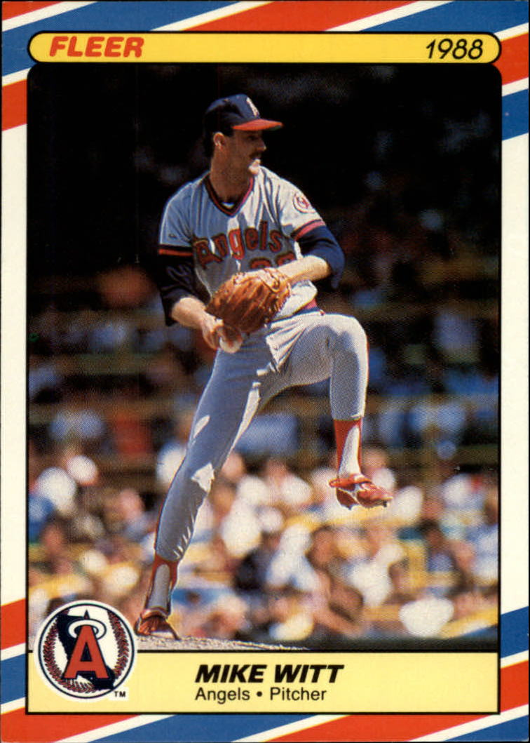 1988 Fleer Superstars Baseball Cards   043      Mike Witt