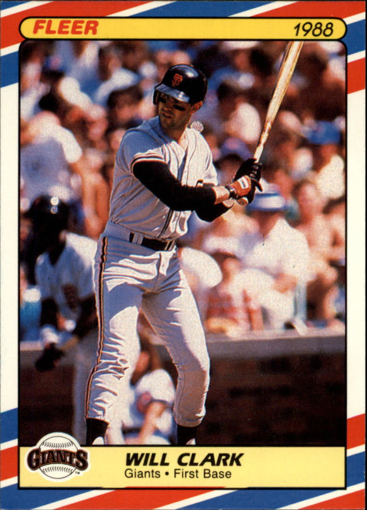 1988 Fleer Superstars Baseball Cards   008      Will Clark