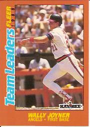 1988 Fleer Team Leaders Baseball Cards 016      Wally Joyner